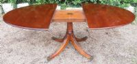Oval Mahogany Extending Dining Table by William Tillman